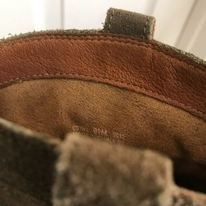Clarks Shoes - Indigo by Clark's Brown Suede Booties (Size 9.5)